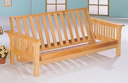 The futon frame is the foundation of the futon. A poorly constructed frame will be difficult to convert from couch to bed and will be more likely to break or come loose. Important facets are strength, ease of use, and durability. There are many different arm styles and finishes to choose from.