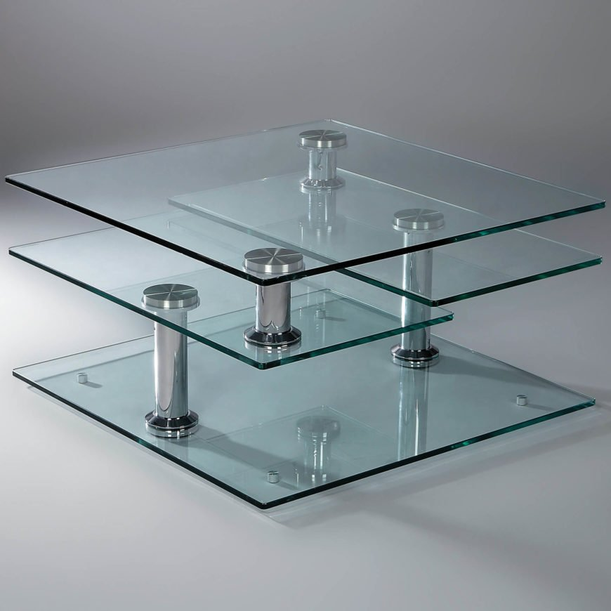 Glass has gradually risen in popularity with modern manufacturing allowing for versatile, striking designs never before possible. While often connected via metal joints or support structures, some tables are 100% glass constructions.