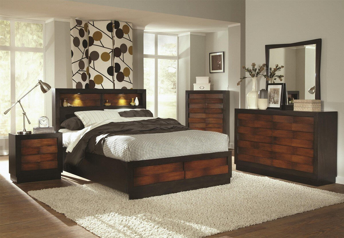 Beds with lighted headboards can appear in a variety of shapes, styles and materials. The prominent feature is a light source built into the headboard, for easy reading or viewing of stored books or other items.