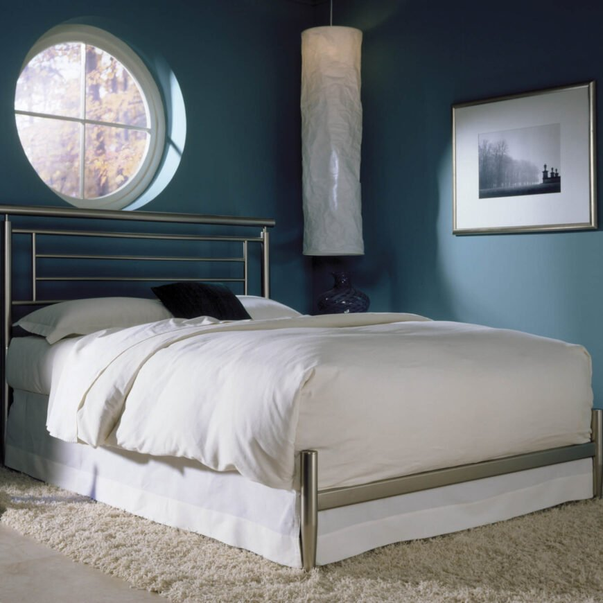Metal bed frames are a more modern convention, lacking the warmth and familiarity of traditional wood construction frames. They can be much lighter, more versatile in modifying size, and often fit a contemporary look well.