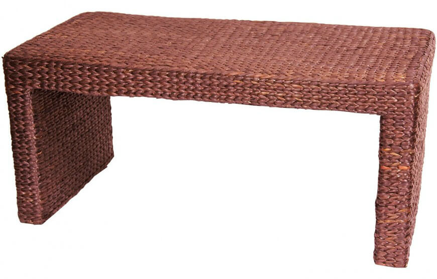 Rattan, or wicker, is often thought of as patio furniture material. However, modern application of the material allows for more luxurious, carefully designed furniture that not only withstands the elements, but looks perfectly at-place inside the home.