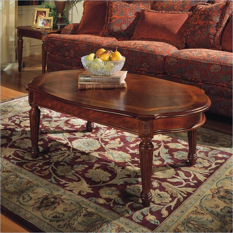 Traditional coffee tables are perhaps the most common seen to this day. With a style reaching back through the last century, their appeal is demonstrably timeless. Traditional tables will almost always be crafted from carved wood, and shaped into a rectangle or oval surface.