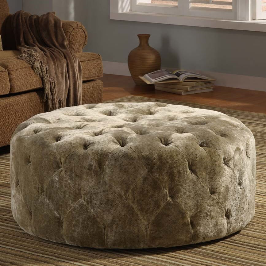 Velvet can add close-up textural detail that virtually no other material offers. Typically used on fancier, luxurious models, a velvet upholstered ottoman can spice up a room or sit perfectly at home, depending on surroundings.