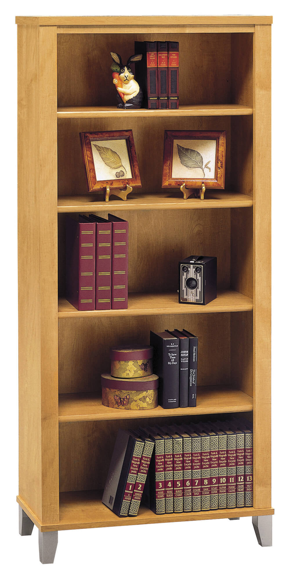 Wood frames comprise the most extensive and far reaching category of bookcases on the market today and in years past. The quintessential construction material, wood bookcases can be found in virtually any design and style.