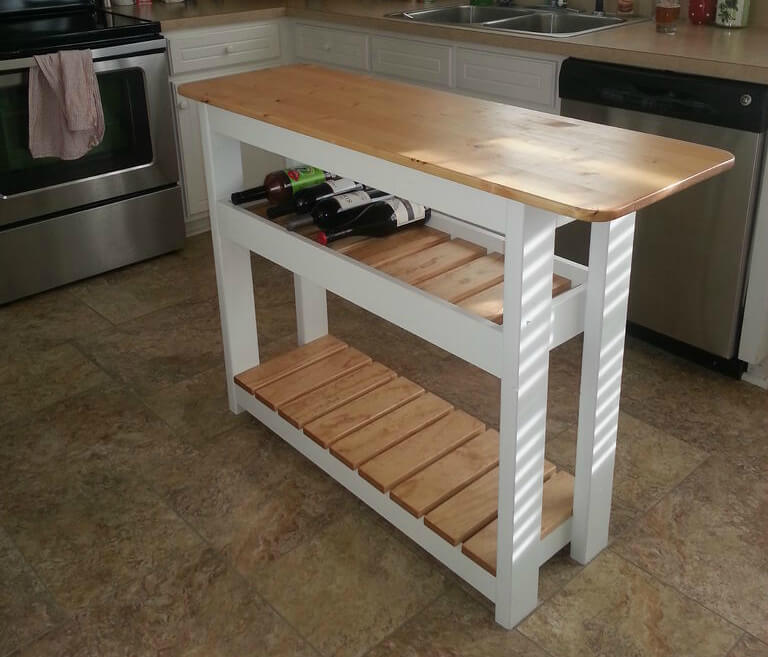 Diy Kitchen Island With Wine Rack Step By Step Home Stratosphere