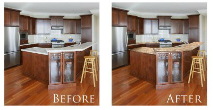 Granite Paint for Countertops - Before and After Pictures