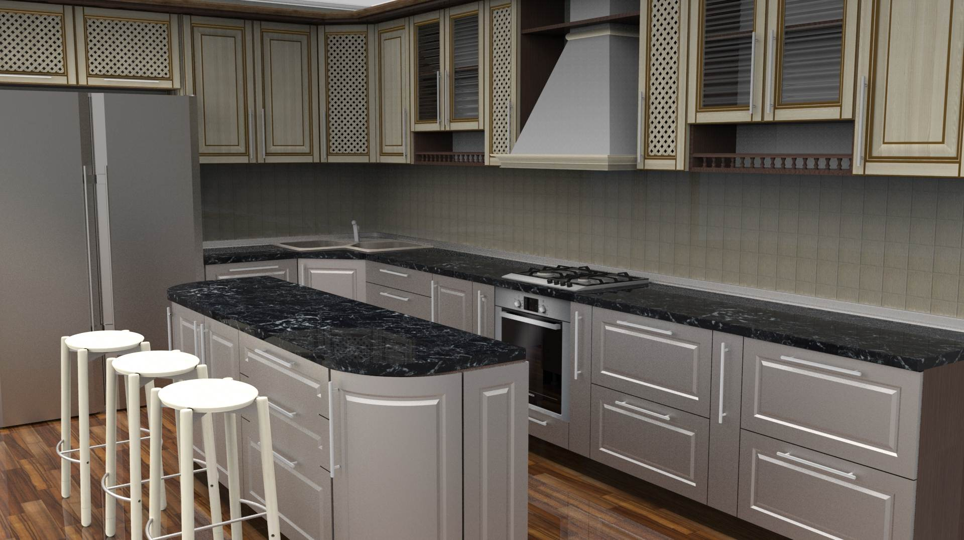 L shaped kitchen lighting plan - Video and Photos ...