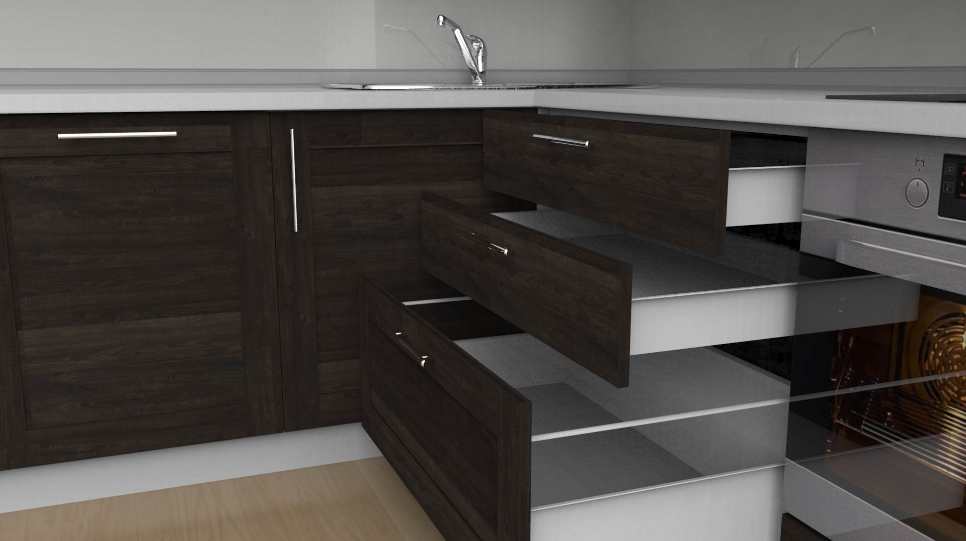 Example Of Kitchen Drawer Design By Prodboard 3D Design Software.