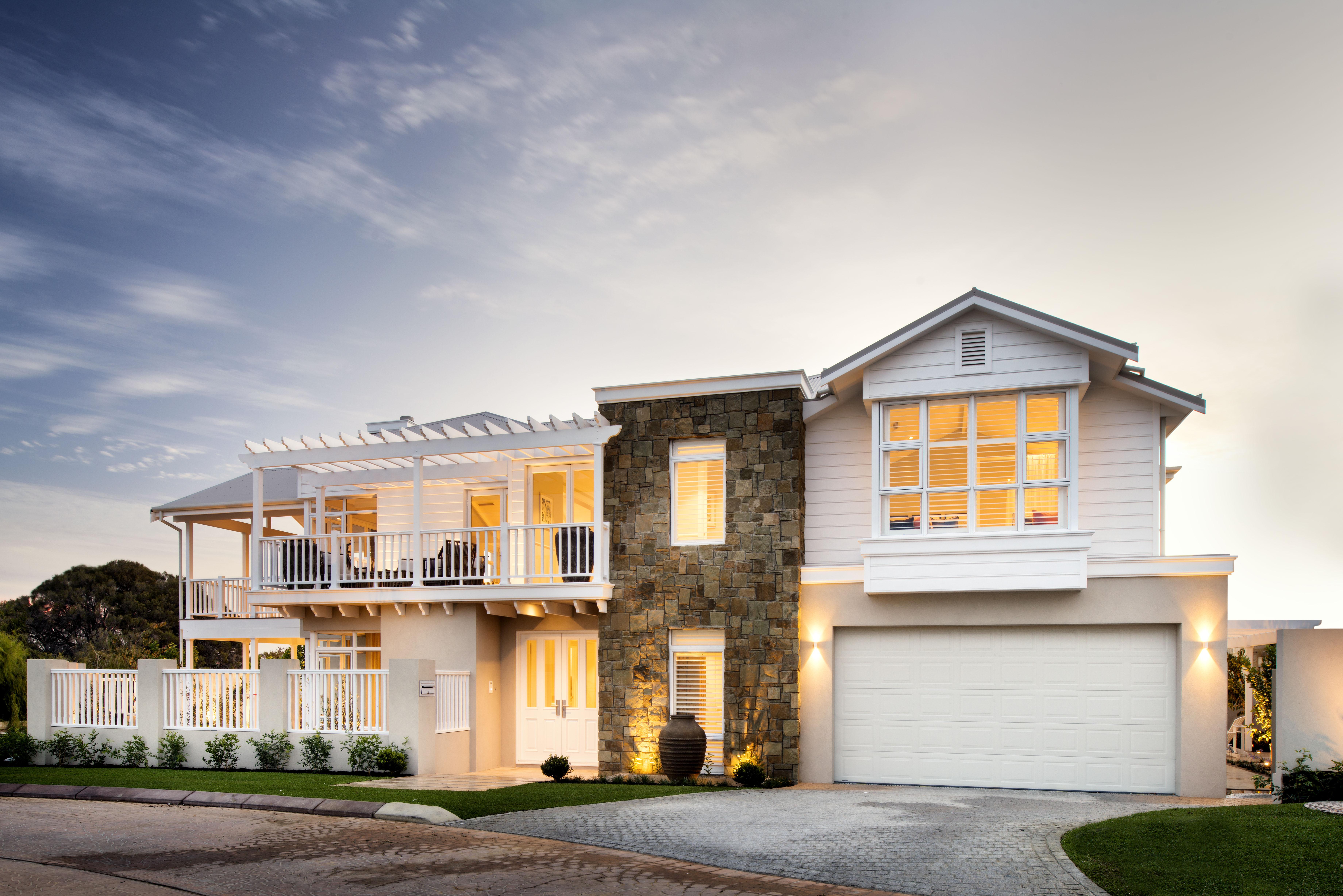 The Grayson Custom Home by Webb & Brown-Neaves exterior.