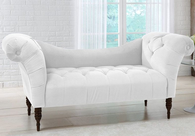 This is a peculiar breed of chaise, with a generally sofa-like appearance, yet lacking the high, supportive back standard on that type of furniture. These encourage the same style of lounge seating as any other chaise.