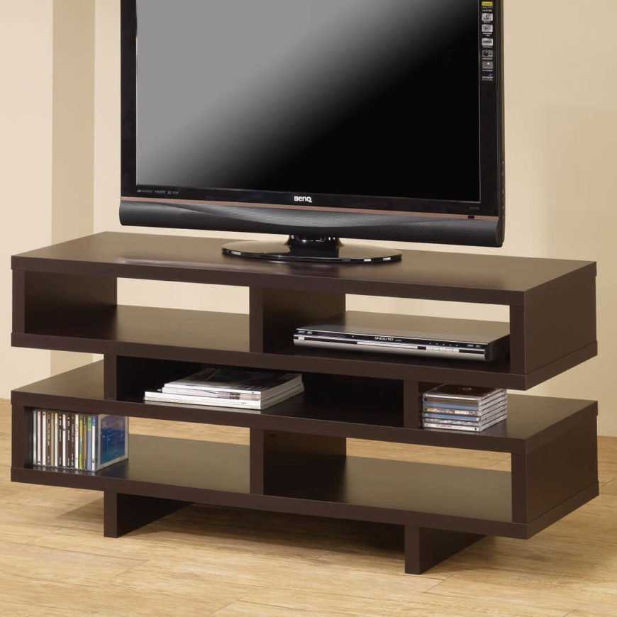 Contemporary design is defined by its essence of the now. These are new, fresh designs that couldn't have appeared decades in the past. Whether minimalist or ornate, wood or metal, contemporary styled TV stands will make a boldly progressive appearance in any home.