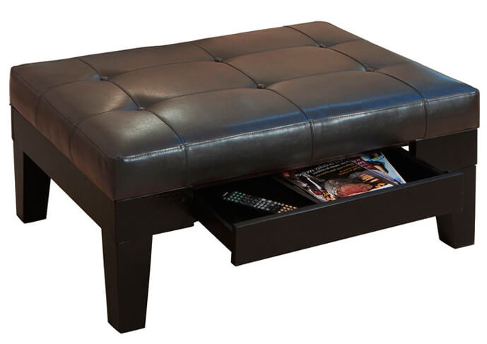 Ottoman with a drawer