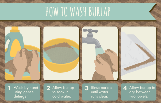 How to wash burlap.