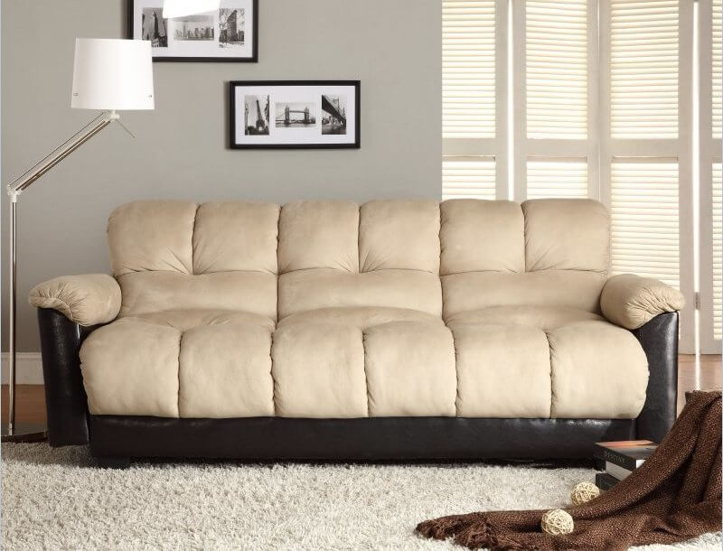 This final sofa is a transitional piece with cloud-like comfort. This vinyl sofa lounger transitions between upright and lounging in seconds for never-ending comfort.