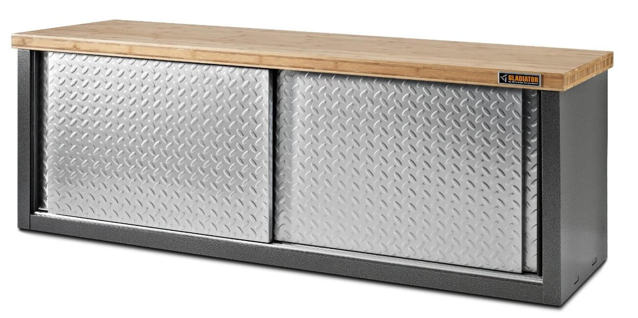 Metal storage benches are much more rare than wood, although still found in a variety of styles, often in combination with wood or other materials. Some particular models, like our example here, are built tough specifically for garage or workshop use.