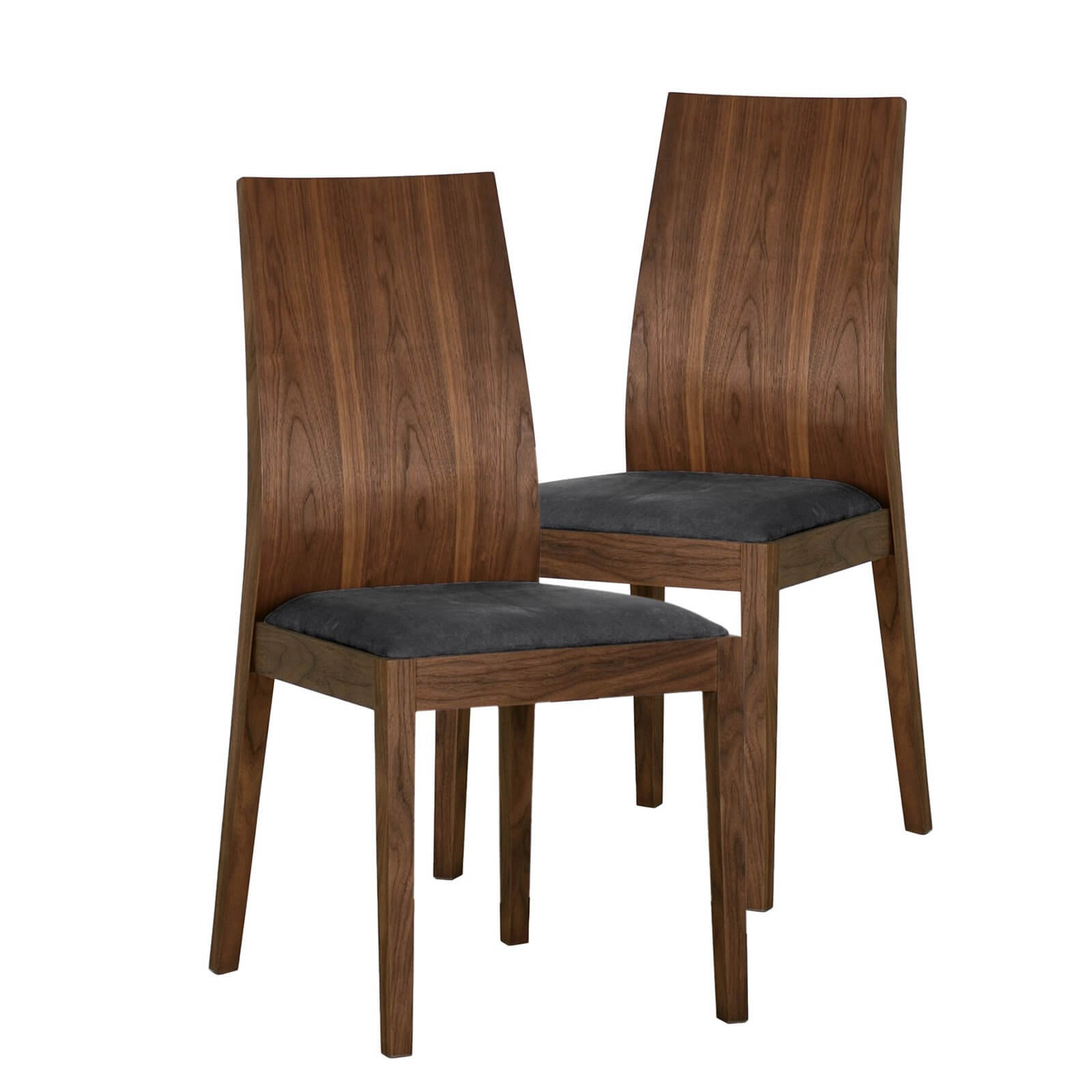 Modern style concerns itself with a perfect blending of form and function, with minimal embellishments and a beautiful minimalism. Our example is a Parson chair with curved wood back.