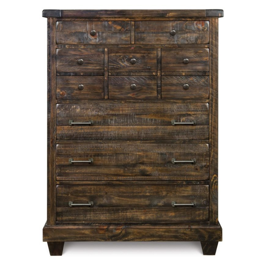 With a look centered around timeworn, natural, weather beaten textures and tones, rustic style is the epitome of old fashioned, homespun furniture. Dressers of this type will use distressed wood, soft metal hardware, and a utilitarian framing.
