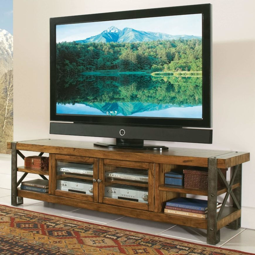 Commonly, rustic look furniture is designed to appear woodsy, old fashioned, and very at home in a mountain cabin. These pieces often use reclaimed, natural, or otherwise untreated wood and aged metals for a timeworn look.