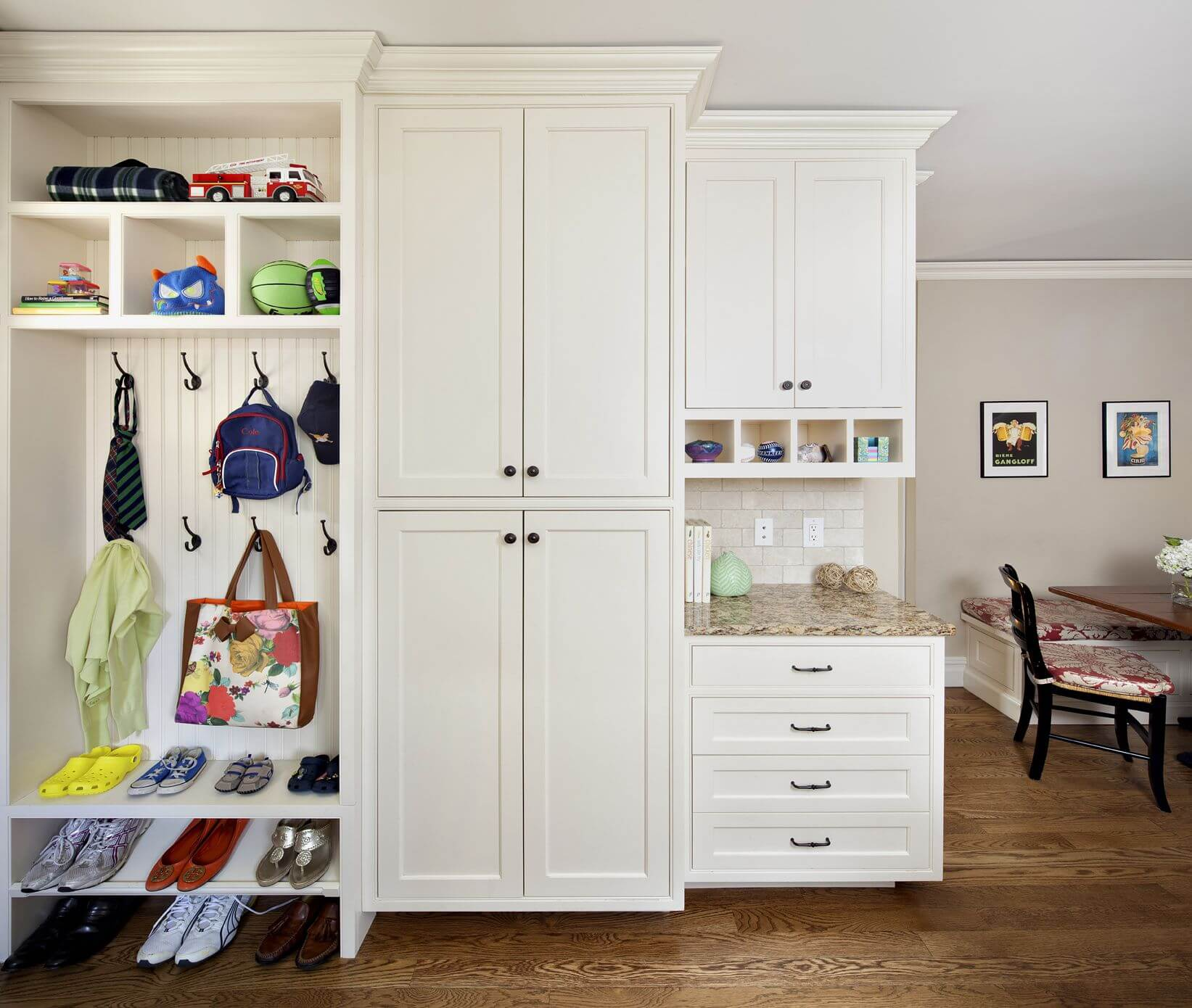 This Mudroom Seems To Be Tucked Away In The Corner Of Another Room And Is Very