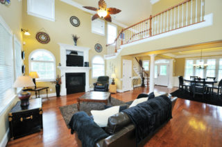 Living room home decorating ideas done on a budget.