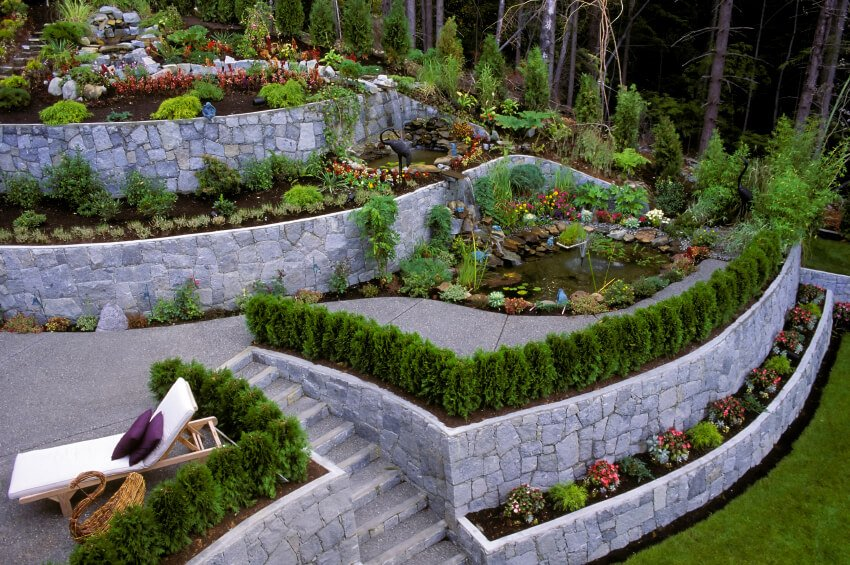 50 Backyard Retaining Wall Ideas And Terraced Gardens Photos Home Stratosphere