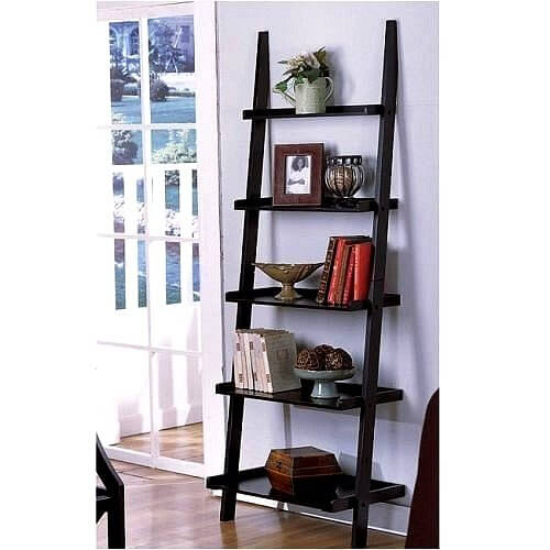 1 ladder with black finish