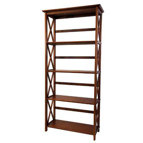 2 montego bookcase walnut