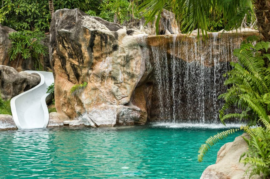 80 Fabulous Swimming Pools With Waterfalls Pictures Home Stratosphere