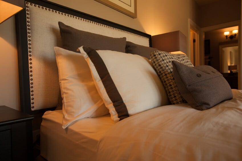 A beautiful pillow arrangement in a neutral palette.