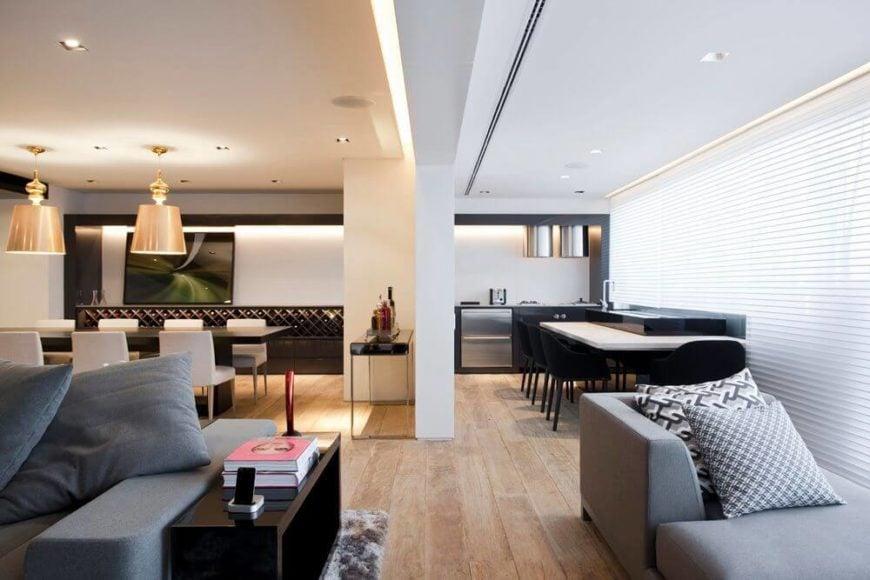 Open-concept main floor living space.
