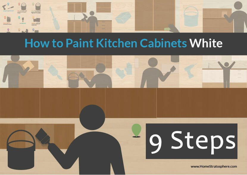 How to paint kitchen cabinets white - 9 steps