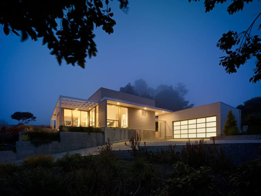 Finally, we leave you with a shot of the home glowing at night, with the oceanic mist shrouding the surrounding landscape.