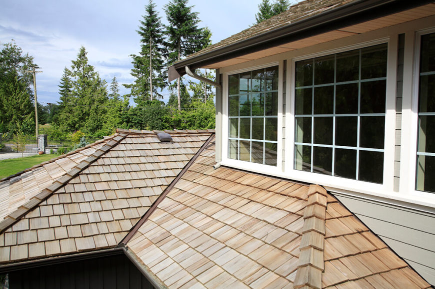 Here is another great example of stunning cedar shingles. These shingles move very seamlessly and fluidly along side one another for a flawless finish.