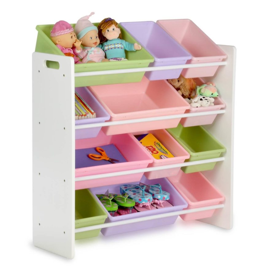 Removable bins allow you or your child to assign a place for their things. Stuffed animals in one, craft supplies in another.