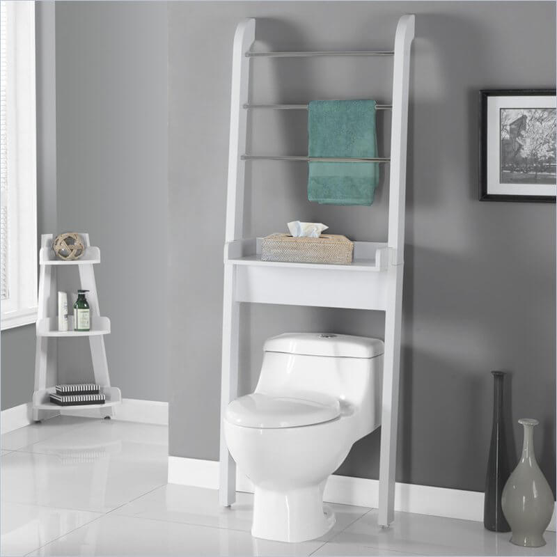 While most of this organizer is a towel rack, it also has a small shelf that's just perfect for a tissue box.