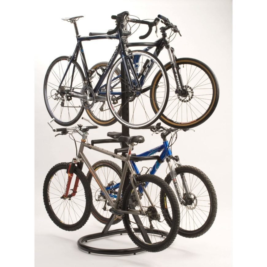 Stack up to four bikes in the same space, and easily remove them when you need them.