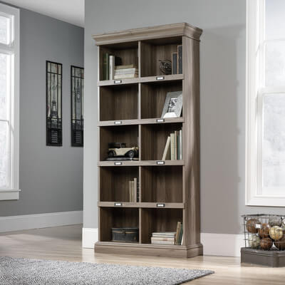 A simple bookcase can add so much to a room, regardless if you're an avid reader or not. Use baskets to organize smaller items, or store a collection of movies.