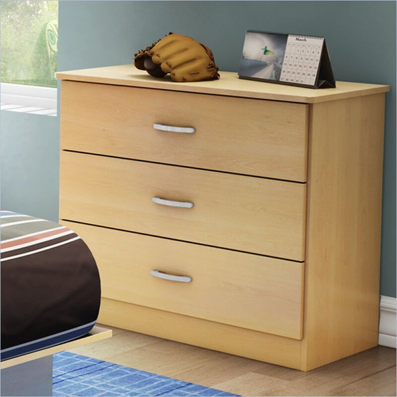 A three-drawer dresser is the perfect height for kids who are ready to start picking out their own clothes, or putting them away.