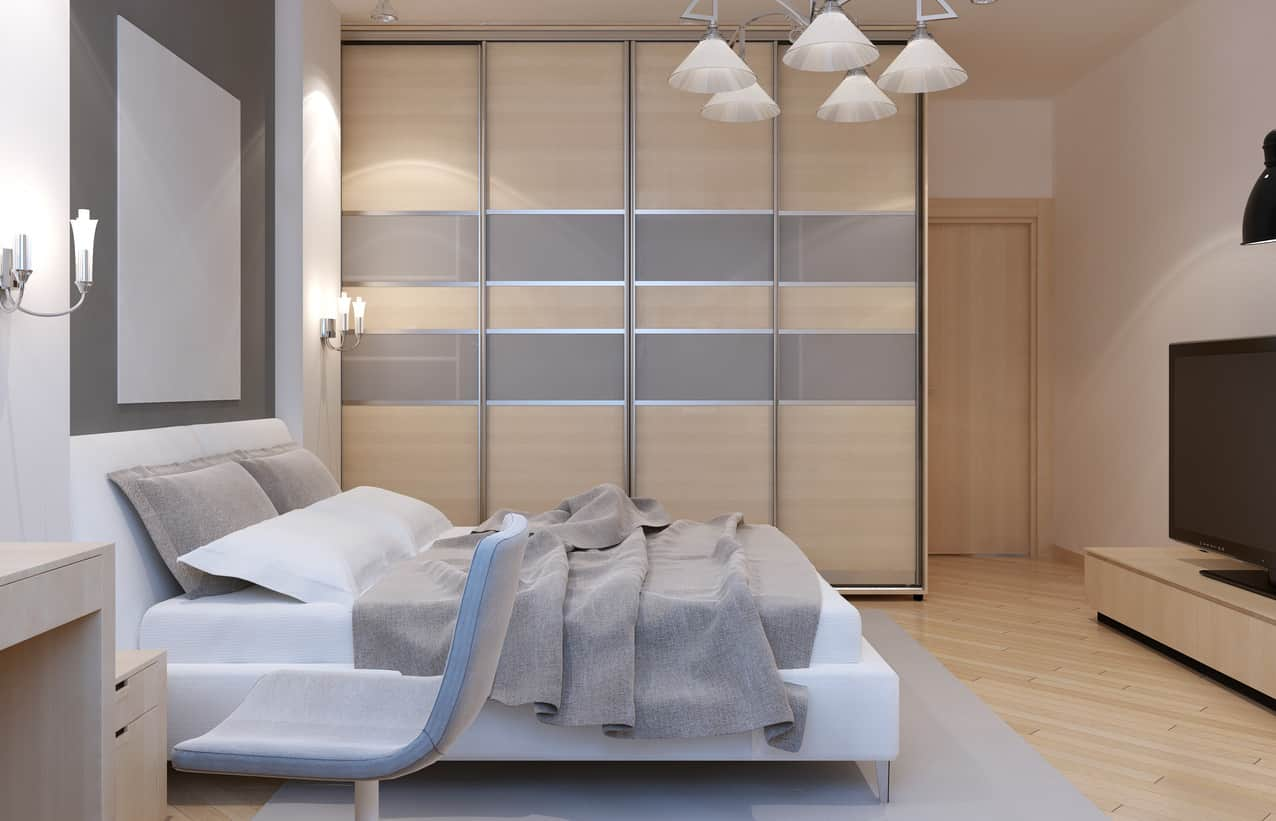 Primary bedroom with fabulous storage