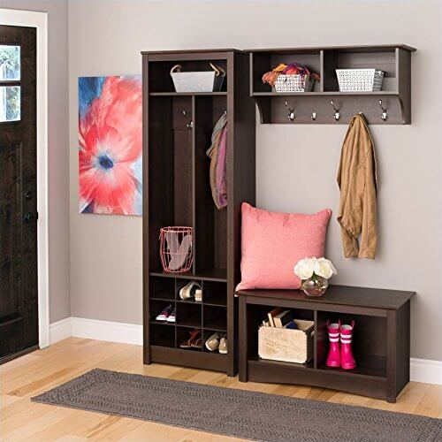Open-faced lockers allow your kids to easily put away their boots, coats, and shoes without you constantly having to go behind them and close doors.