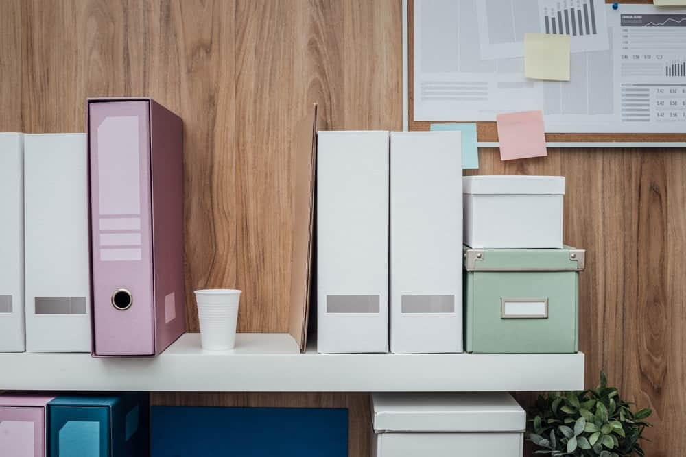 Different home office storage solutions.