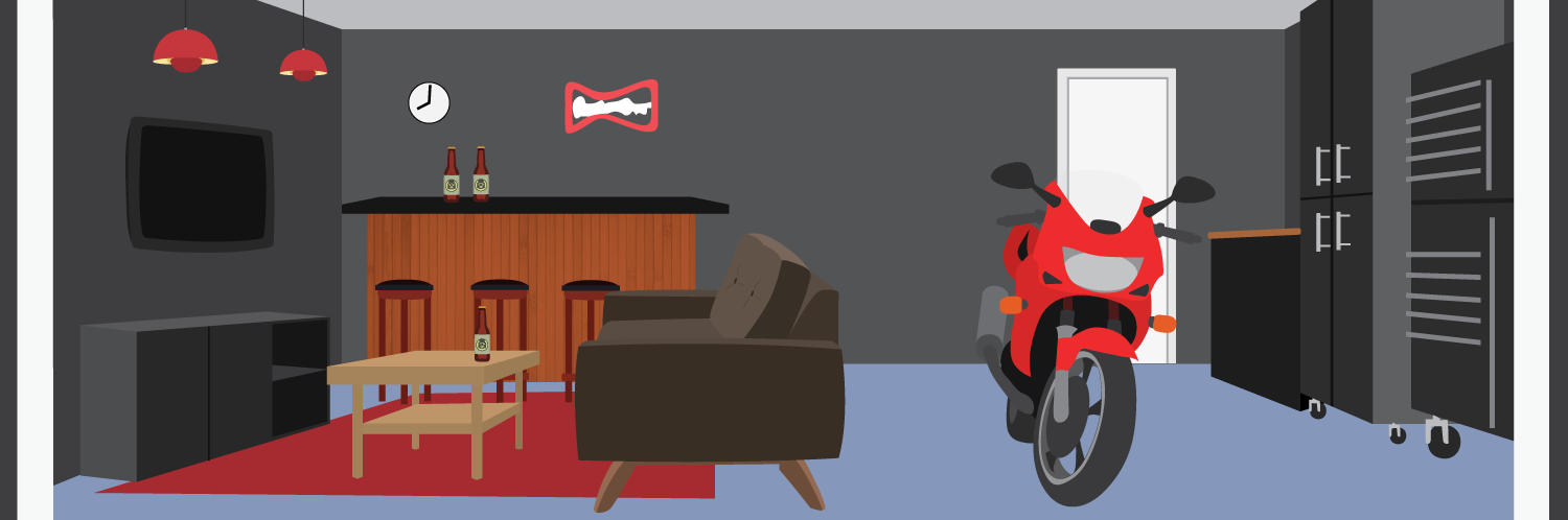 Building your own man cave.