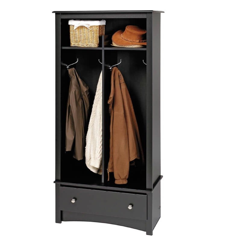This smaller option is great for a small half-wall or beside a door--wherever you don't have much space, but desire storage.