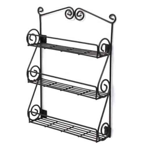 This wall-mounted version has elegant swirls and three tiers. Perfect if you don't use too many different spices.