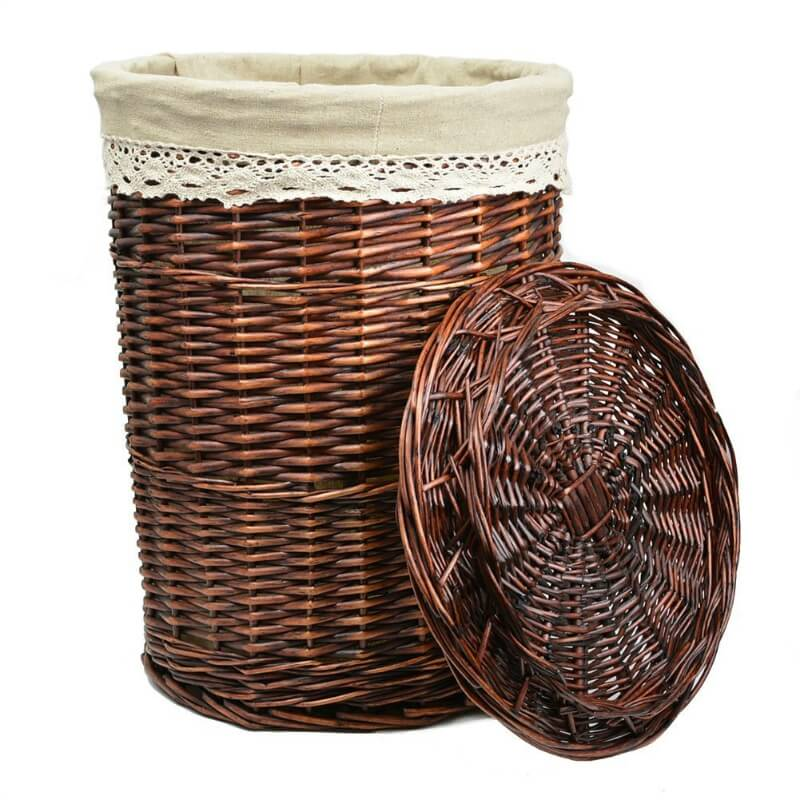 FYI, the way this wicker basket is presented, it's a laundry hamper... but it need not serve as a hamper. Try using these to store scarves or other small apparel items you don't use often.