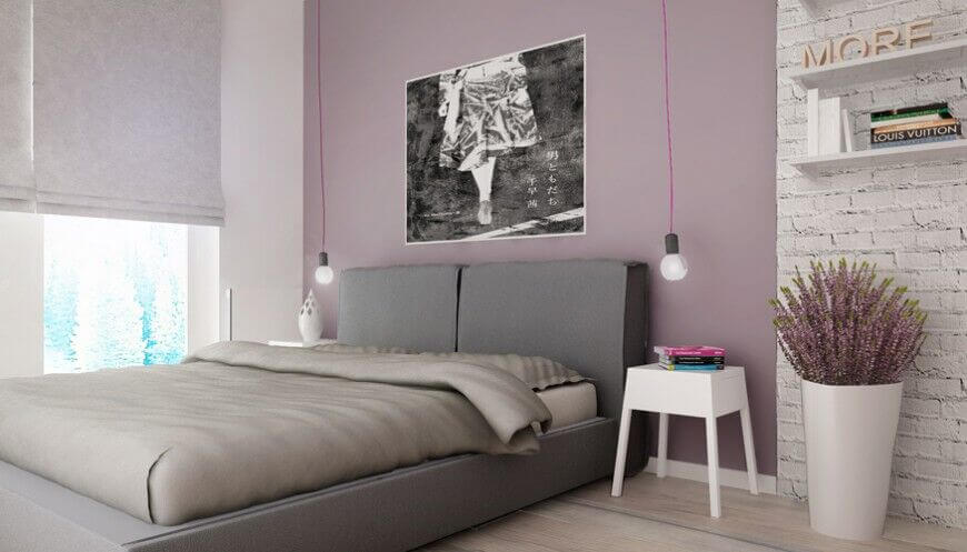 10 - bedroom with accent walls - Superpozycja Architekci, Sosnowiec