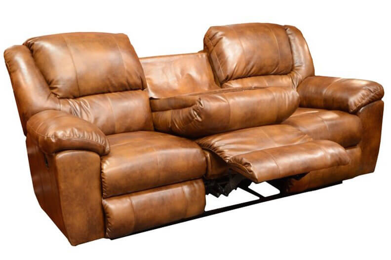 This sofa showcases the truly versatile end of the recliner spectrum, with a full three sets of reclining seats between its thickly cushioned arms. Even better, the middle back can be folded down to reveal cupholders and a spot for snacks.