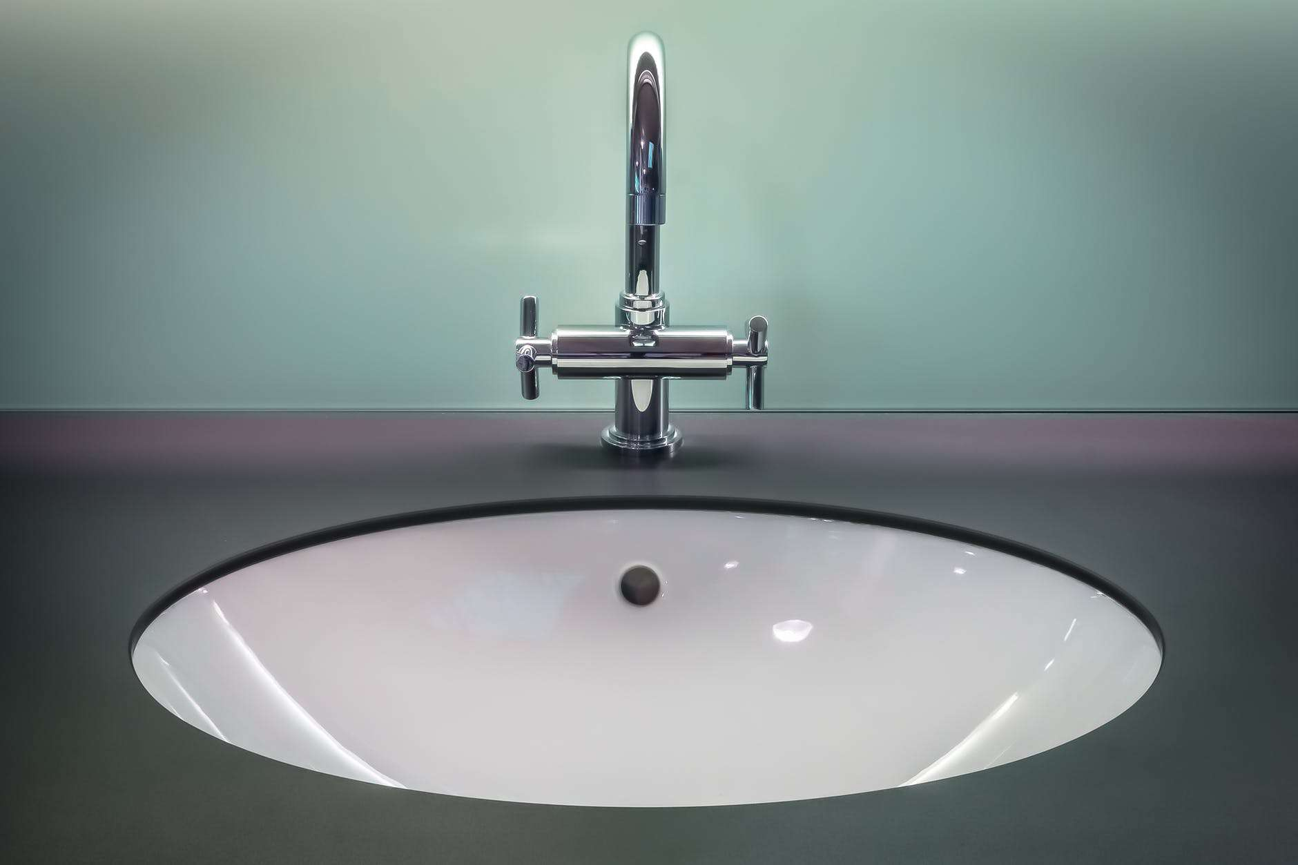 Close up of a sink.