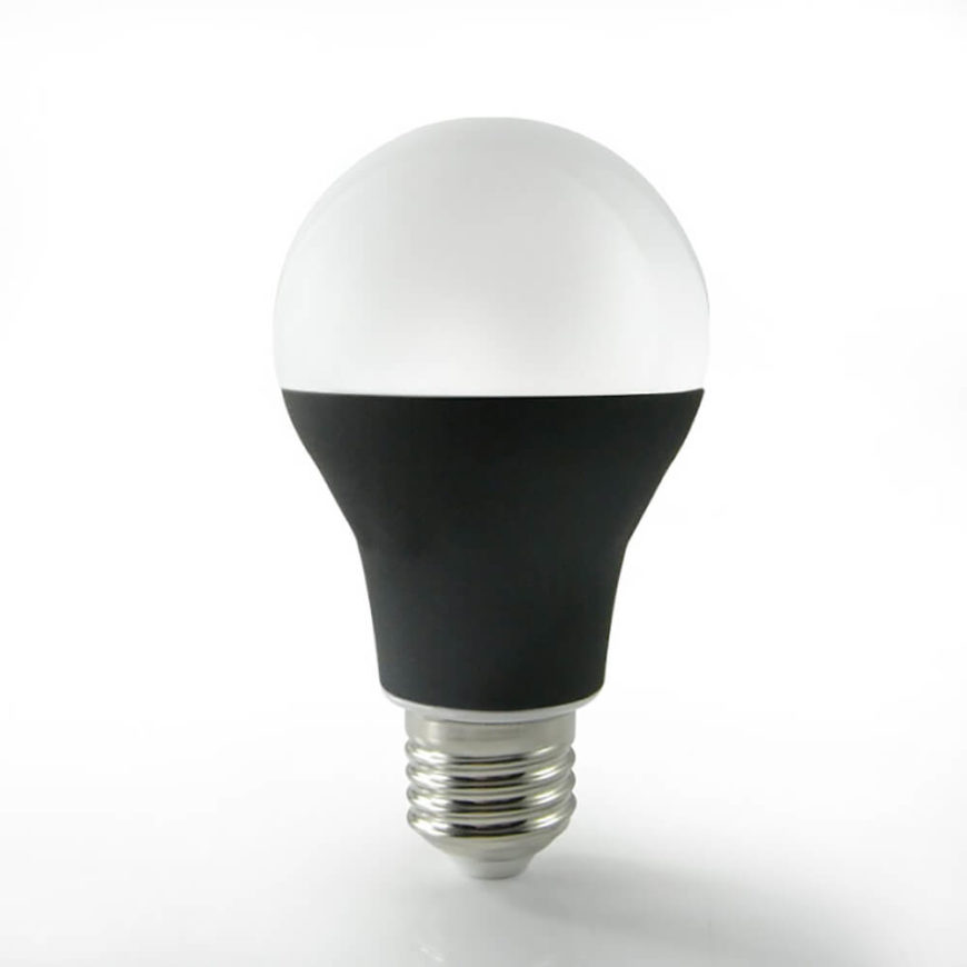 This is the Bluetooth connected bulb. Its design is a little less futuristic than the WiFi bulb, however, the black coated stem helps to focus the light and prevent the bulb from overheating.