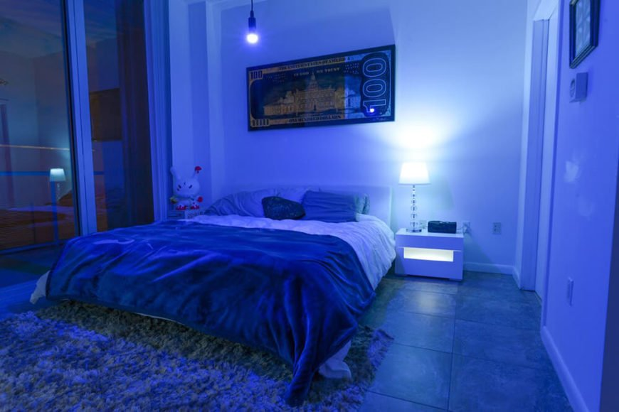 The beauty of the using the smart bulb as a part of your decor, is that you can virtually never get tired of it. The different color options are vast, and if you want to make some changes, its a lot easier than re-painting.